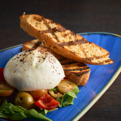 BLUE MOUNTAIN COFFEE DUSTED BURRATA
